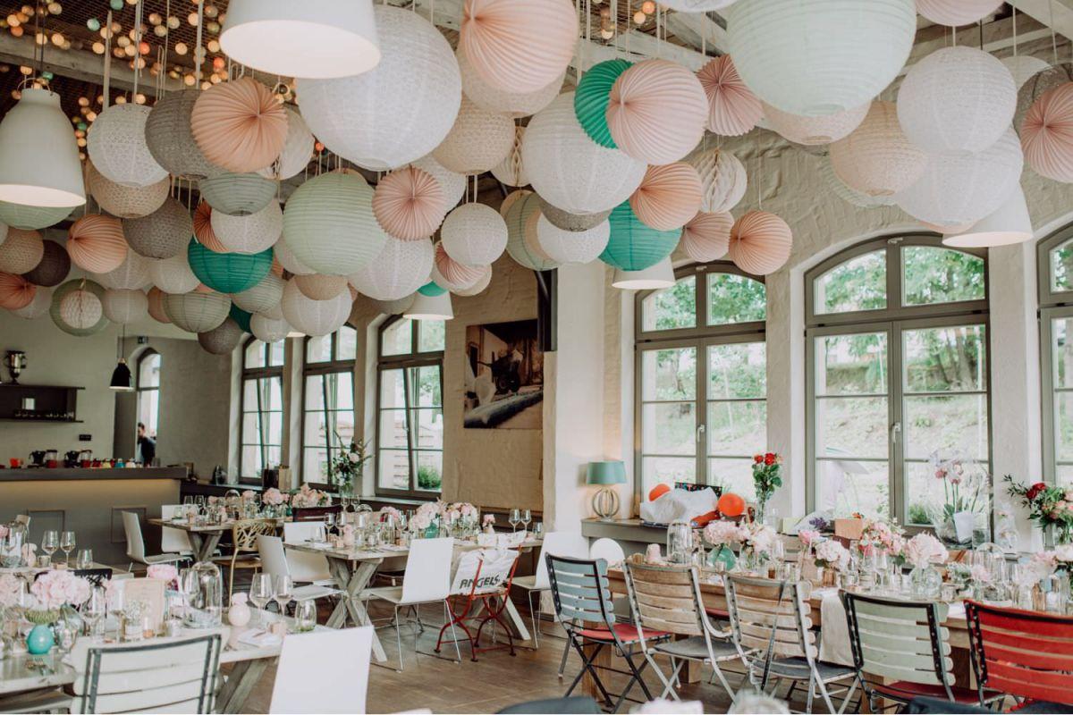 Vintage Hochzeit im Elements Dresden Dekoration innen